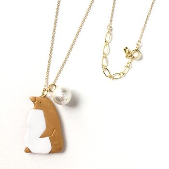 SHIKKAのネックレス。ペンギン。