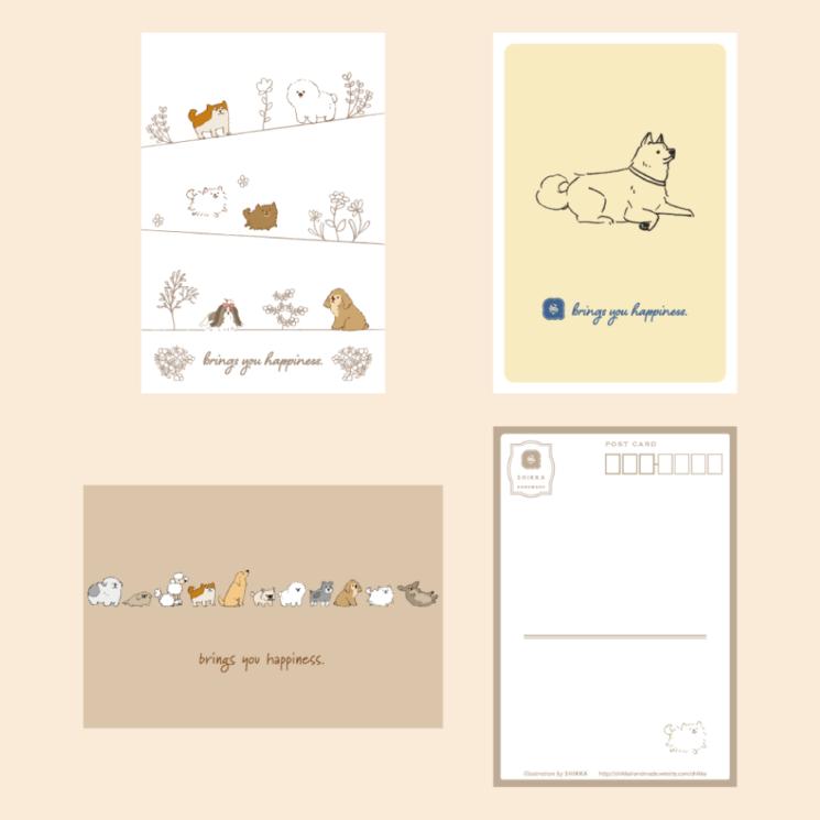 SHIKKAのポストカード。犬のシリーズ。