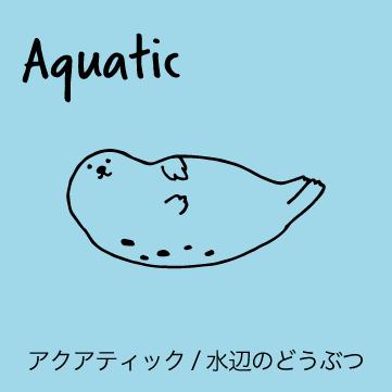 SHIKKAのブローチ。AQUATICアクアティックシリーズ、水中や水辺で暮らす動物がモチーフのブローチ。